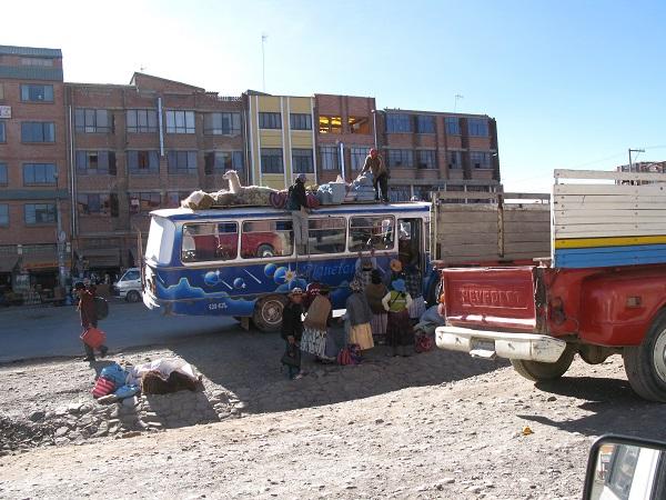 Akpaka på bus i El Alto