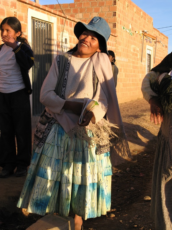 Kvinde i El Alto Bolivia