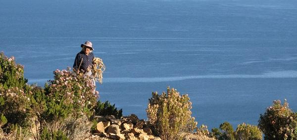 Kvinde på Isla del Sol - Titicacasøen